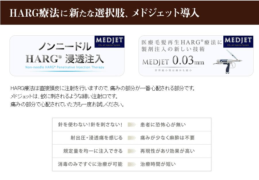 HARG療法に新たな選択肢、メドジェット注入法